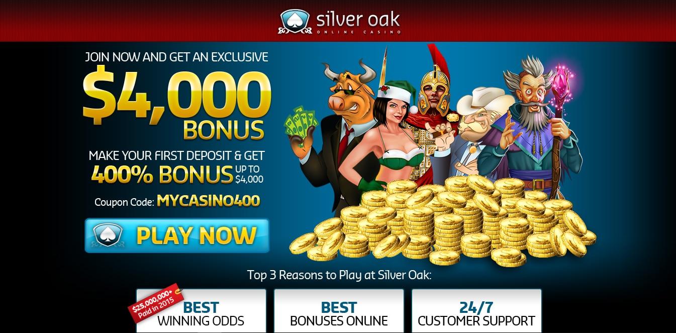 Silver Oak Online Casino Home