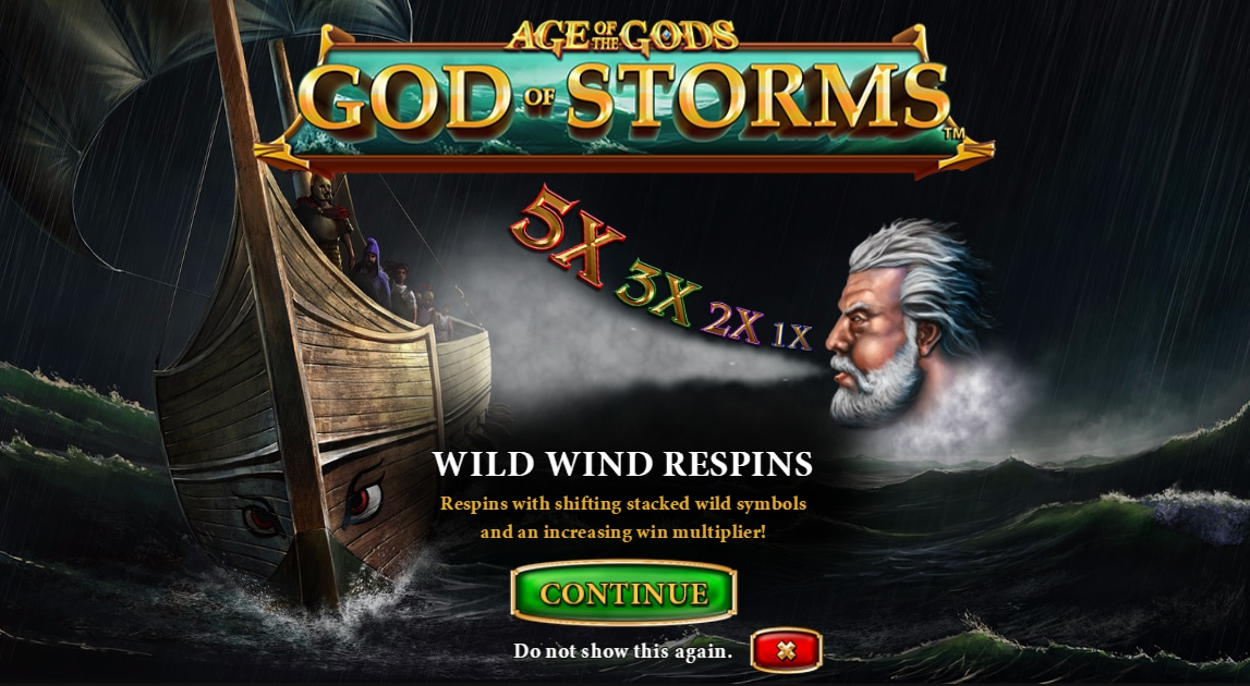 Play Age of the Gods: God of Storms Online Slots at Casino.com ZA