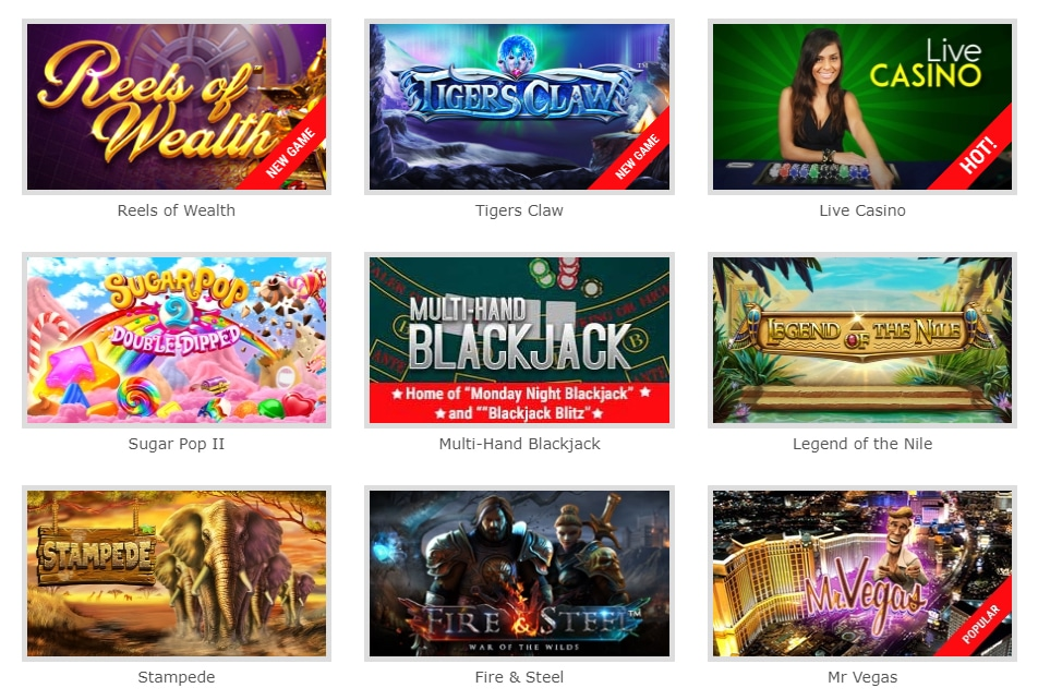 BetOnline Casino Games