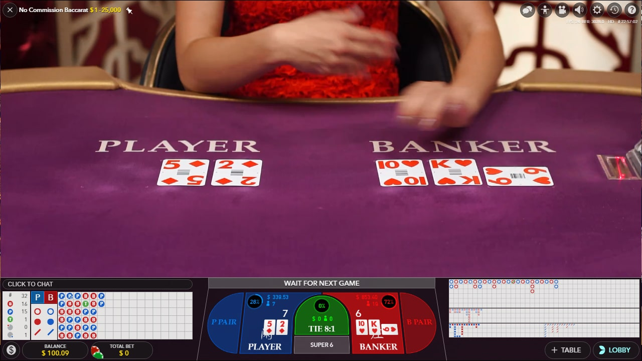 Play Baccarat Online Hands