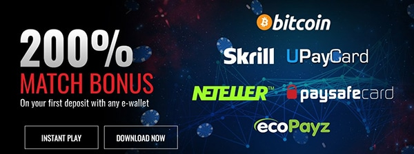 Casino Extreme e-wallet Deposit Options