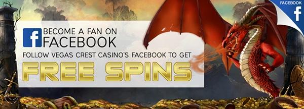 Vegas Crest Casino Facebook Free Spins