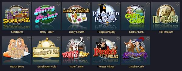 Vegas Crest Online Casino Scratch Cards