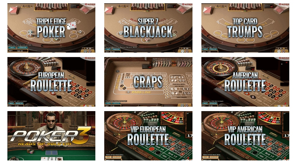 XBet Casino Table Games