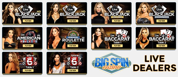 Big Spin Casino Live Dealers