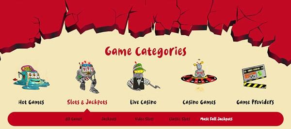 casoola casino game categories