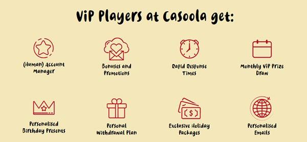 casoola casino vip rewards