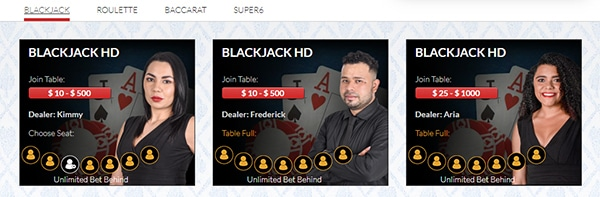 Red Dog Casino Live Dealers