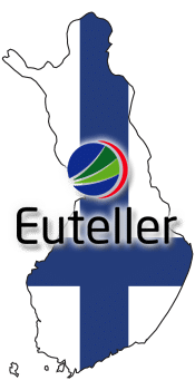 Finland Country Outline with Euteller Logo
