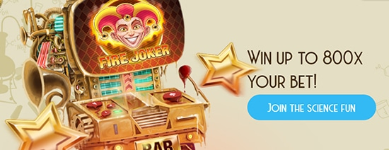 Win up to 800 x your bet at Casino Lab