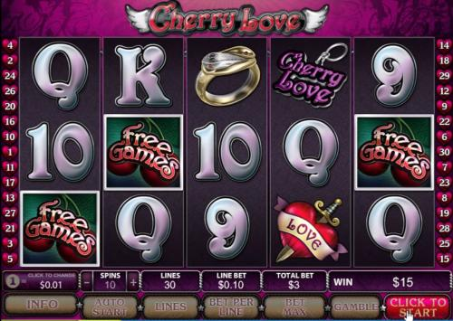 cherry love slot scatters