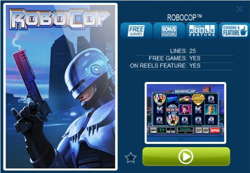 robocop online slot features