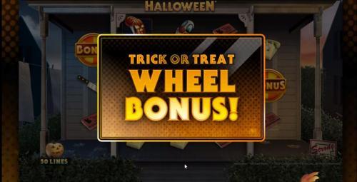 Halloween slot wheel bonus